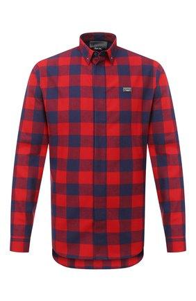 Мужская хлопковая рубашка PHILIPP PLEIN черного цвета, арт. F20C MRP1364 PTE003N | Фото 1
