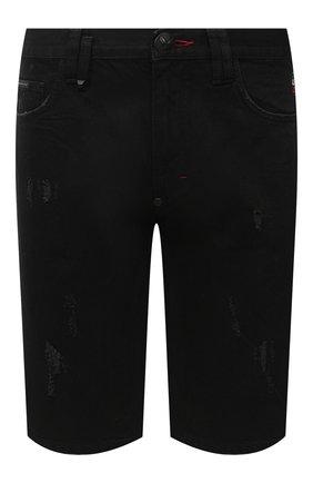 Мужские джинсовые шорты PHILIPP PLEIN черного цвета, арт. F20C MDT2245 PDE004N | Фото 1