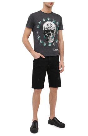 Мужские джинсовые шорты PHILIPP PLEIN черного цвета, арт. F20C MDT2245 PDE004N | Фото 2