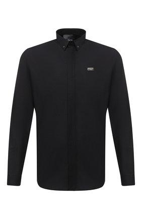 Мужская хлопковая рубашка PHILIPP PLEIN черного цвета, арт. F20C MRP1365 PTE003N | Фото 1