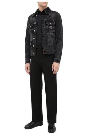 Мужская хлопковая рубашка PHILIPP PLEIN черного цвета, арт. F20C MRP1365 PTE003N | Фото 2