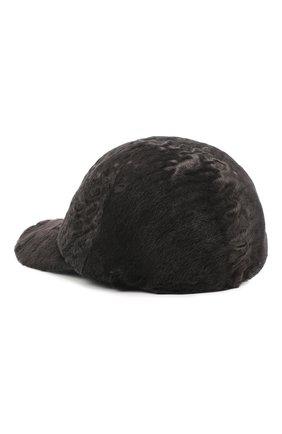 Мужской бейсболка из меха каракуля KUSSENKOVV темно-серого цвета, арт. 387100086003 | Фото 2