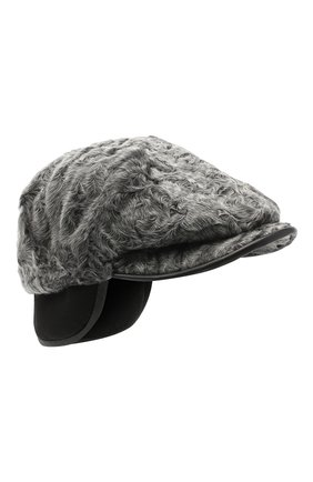 Мужская кепи из меха каракуля FURLAND серого цвета, арт. 0232007810022200080 | Фото 1