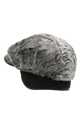 Мужская кепи из меха каракуля FURLAND серого цвета, арт. 0232007810022200080 | Фото 2