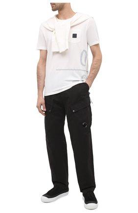 Мужской хлопковые брюки-карго C.P. COMPANY черного цвета, арт. 09CMPA137A-005529G | Фото 2