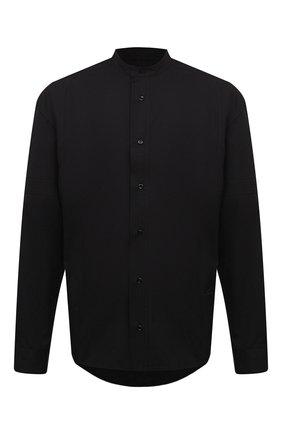 Мужская хлопковая рубашка A-COLD-WALL* черного цвета, арт. ACWMSH028 | Фото 1