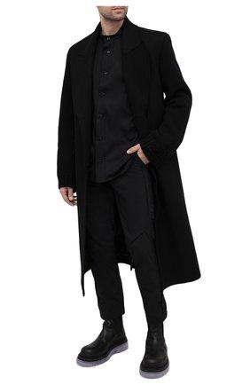 Мужская хлопковая рубашка A-COLD-WALL* черного цвета, арт. ACWMSH028 | Фото 2