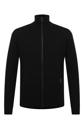 Мужская шерстяной кардиган A-COLD-WALL* черного цвета, арт. ACWMK013E | Фото 1