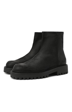 Мужские кожаные сапоги VIC MATIE черного цвета, арт. 1Y5582U.Y02Y050101 | Фото 1 (Материал внутренний: Натуральная кожа; Подошва: Массивная)