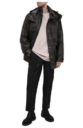 Мужские кожаные сапоги VIC MATIE черного цвета, арт. 1Y5582U.Y02Y050101 | Фото 2 (Материал внутренний: Натуральная кожа; Подошва: Массивная)