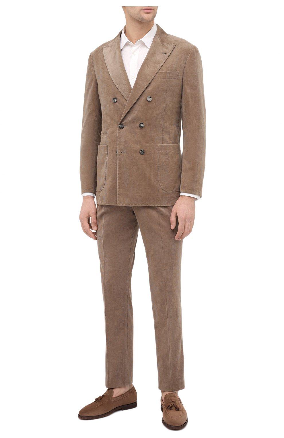 Мужские замшевые лоферы BRUNELLO CUCINELLI коричневого цвета, арт. MZUCEMQ879   Фото 2