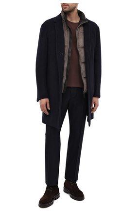 Мужские замшевые ботинки GIANVITO ROSSI темно-коричневого цвета, арт. U05650.20G0M.SFUM0M0 | Фото 2