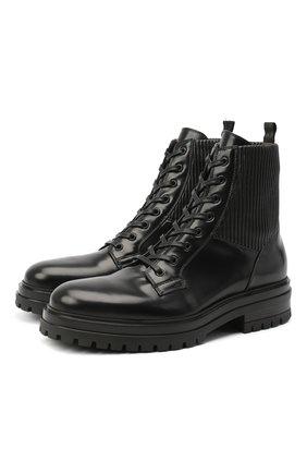 Мужские кожаные ботинки GIANVITO ROSSI черного цвета, арт. U73550.20CU0.SEMNENE | Фото 1