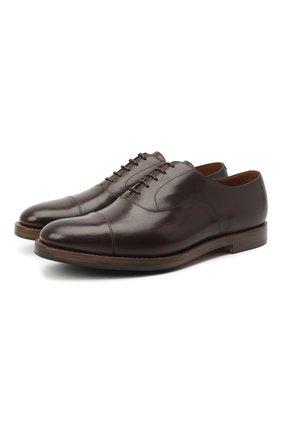 Мужские кожаные оксфорды O`KEEFFE темно-коричневого цвета, арт. 0K1542/BAR0N   Фото 1
