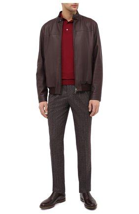 Мужские кожаные оксфорды O`KEEFFE темно-коричневого цвета, арт. 0K1542/BAR0N   Фото 2