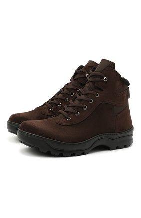 Мужские замшевые ботинки RARE темно-коричневого цвета, арт. RU3960/VEL0UR/ACTIVE 7 | Фото 1