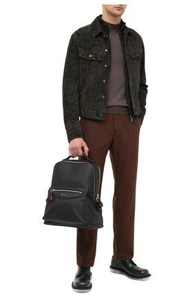 Мужской кожаный рюкзак SANTONI черного цвета, арт. UIBBA2007LI-HMA1N01 | Фото 2