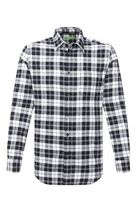 Мужская хлопковая рубашка DIESEL черно-белого цвета, арт. A01364/0EBAD   Фото 1