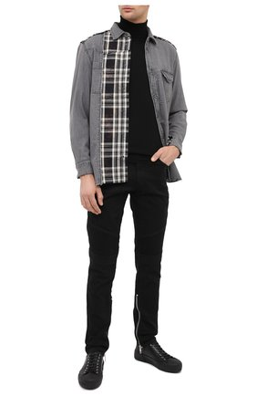 Мужская хлопковая рубашка DIESEL темно-серого цвета, арт. A01093/0LAYM | Фото 2