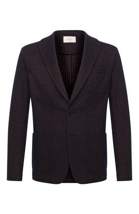 Мужской пиджак из шерсти и хлопка ALTEA коричневого цвета, арт. 2062304 | Фото 1