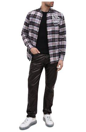 Мужские кожаные кеды ALEXANDER MCQUEEN белого цвета, арт. 625174/WHYBB | Фото 2