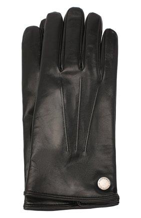 Мужские кожаные перчатки MORESCHI черного цвета, арт. 064U/NAPPA | Фото 1