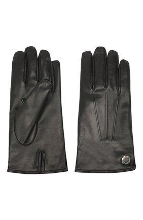 Мужские кожаные перчатки MORESCHI черного цвета, арт. 064U/NAPPA | Фото 2
