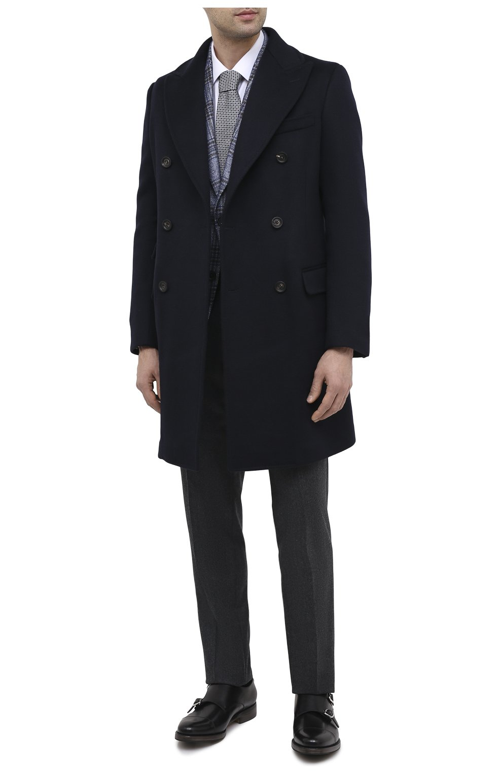 Мужской пальто из шерсти и кашемира ELEVENTY темно-синего цвета, арт. B70CAPB08 TES0B123 | Фото 2