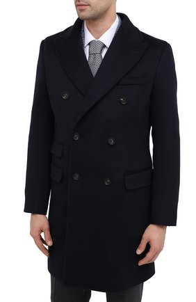 Мужской пальто из шерсти и кашемира ELEVENTY темно-синего цвета, арт. B70CAPB08 TES0B123 | Фото 3