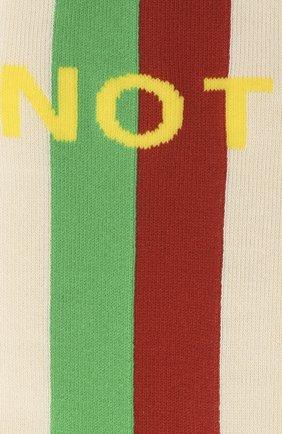 Мужские хлопковые носки «fake/not» GUCCI белого цвета, арт. 636395/4G157 | Фото 2