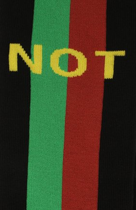 Мужские хлопковые носки «fake/not» GUCCI черного цвета, арт. 636395/4G157 | Фото 2