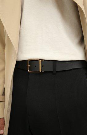 Мужской кожаный ремень DOLCE & GABBANA черного цвета, арт. BC4524/AW983 | Фото 2