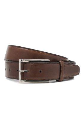 Мужской кожаный ремень BRIONI коричневого цвета, арт. 0BAV0L/P9739 | Фото 1
