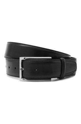 Мужской кожаный ремень BRIONI черного цвета, арт. 0BAV0L/P9739 | Фото 1