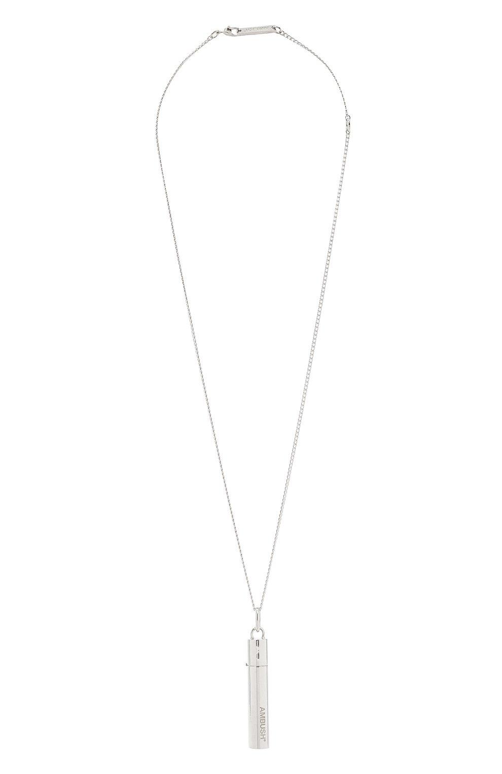 Мужского серебряная цепь с кулоном AMBUSH серебряного цвета, арт. BM0B021F20MET002 | Фото 1 (Материал: Серебро)