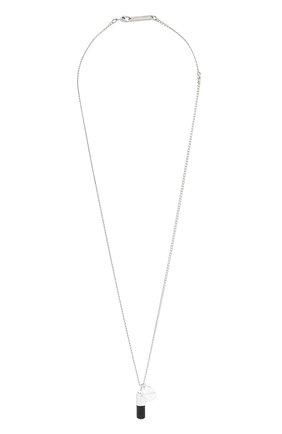 Мужского серебряная цепь с кулоном AMBUSH черного цвета, арт. BM0B024F20MET001 | Фото 1