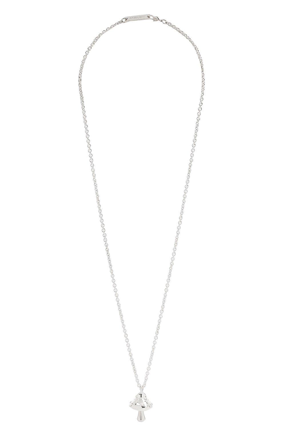 Мужского серебряная цепь с кулоном AMBUSH серебряного цвета, арт. BM0B025F20MET001 | Фото 1 (Материал: Серебро)