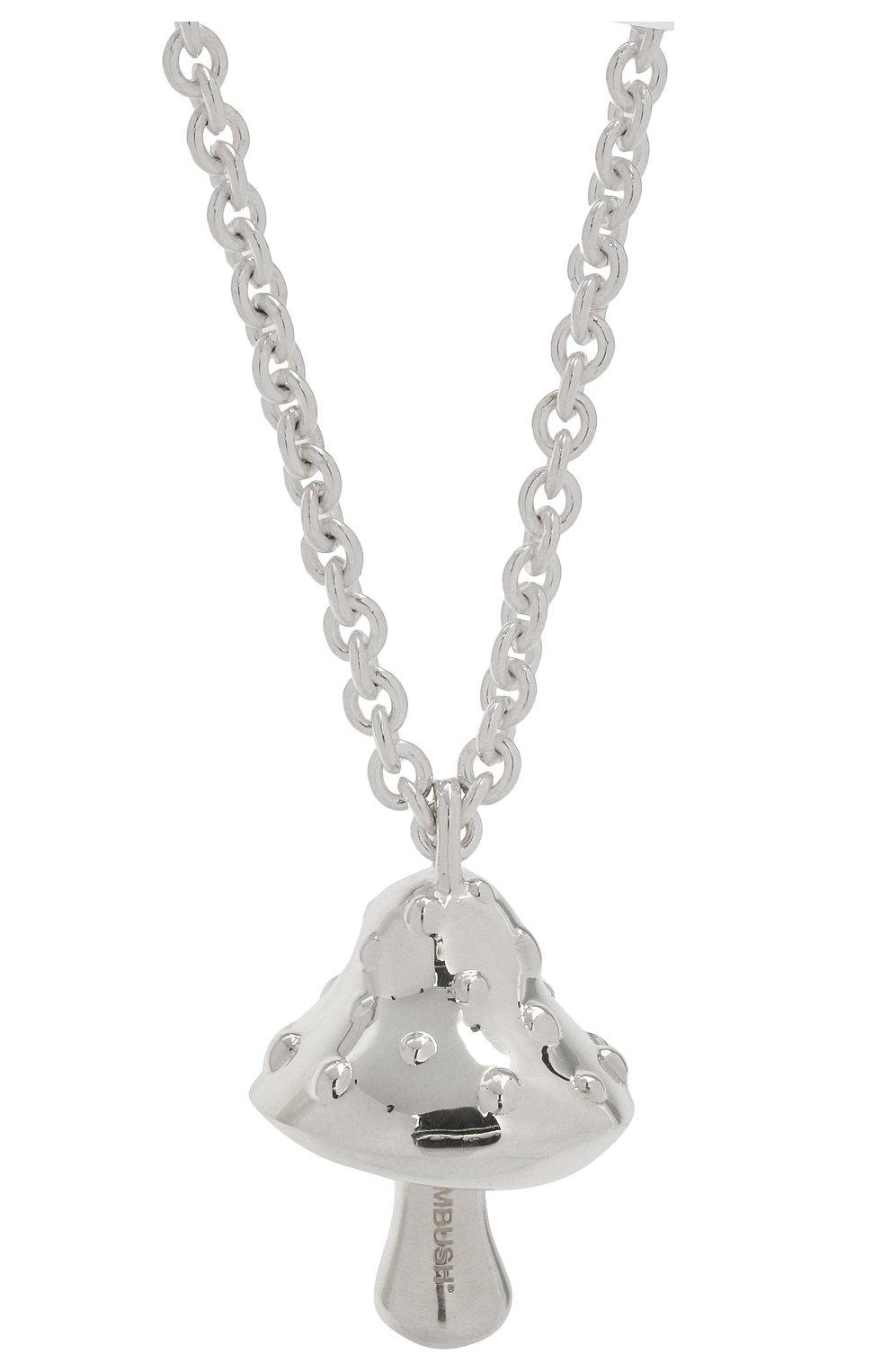 Мужского серебряная цепь с кулоном AMBUSH серебряного цвета, арт. BM0B025F20MET001 | Фото 2 (Материал: Серебро)
