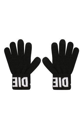 Детские перчатки DIESEL черного цвета, арт. 00J52D-0NABQ | Фото 2