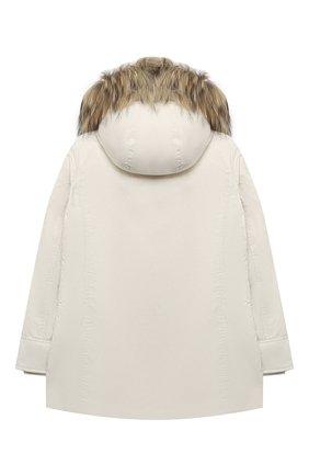 Детского пуховая парка WOOLRICH белого цвета, арт. CFWK0U0111FR/UT0573/8-16 | Фото 2