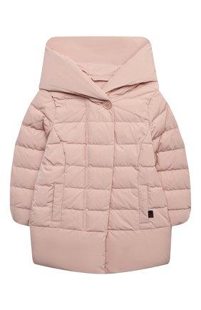 Детского пуховая куртка WOOLRICH розового цвета, арт. CFWK0U0106FR/UT0573/4-6 | Фото 1