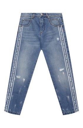 Детские джинсы BALMAIN голубого цвета, арт. 6N6700/NA330/4-10   Фото 1