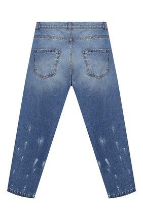 Детские джинсы BALMAIN голубого цвета, арт. 6N6700/NA330/4-10   Фото 2