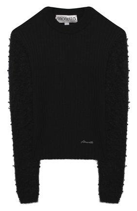 Детский шерстяной пуловер SIMONETTA черного цвета, арт. 1N9040/NF130/5-8 | Фото 1