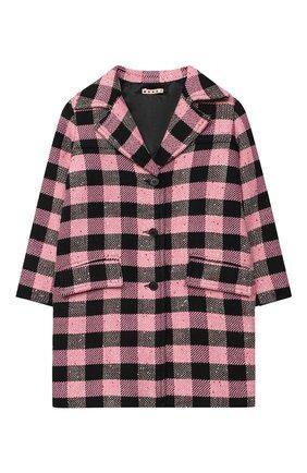 Детское пальто MARNI розового цвета, арт. M002R3-M00IL | Фото 1