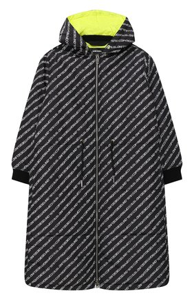 Детское пальто с капюшоном DIESEL черного цвета, арт. 00J50N-KXB4Q | Фото 1