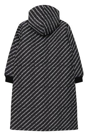 Детское пальто с капюшоном DIESEL черного цвета, арт. 00J50N-KXB4Q | Фото 2