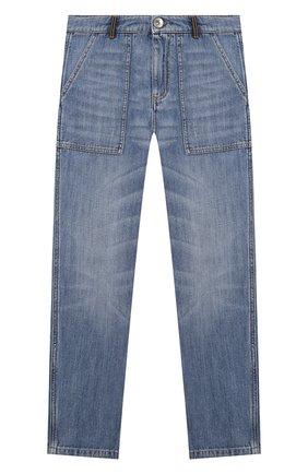 Детские джинсы BRUNELLO CUCINELLI голубого цвета, арт. B0Z37D302C   Фото 1