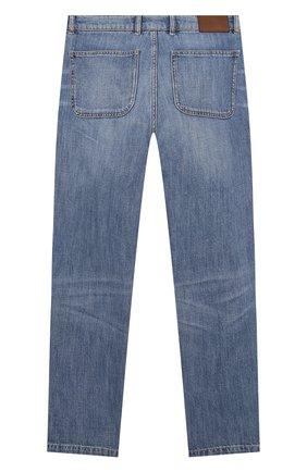 Детские джинсы BRUNELLO CUCINELLI голубого цвета, арт. B0Z37D302C   Фото 2
