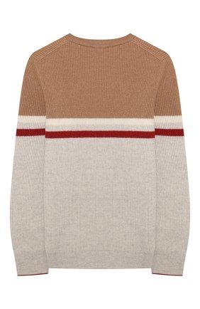 Детский кашемировый пуловер BRUNELLO CUCINELLI светло-серого цвета, арт. B22M10200B | Фото 2